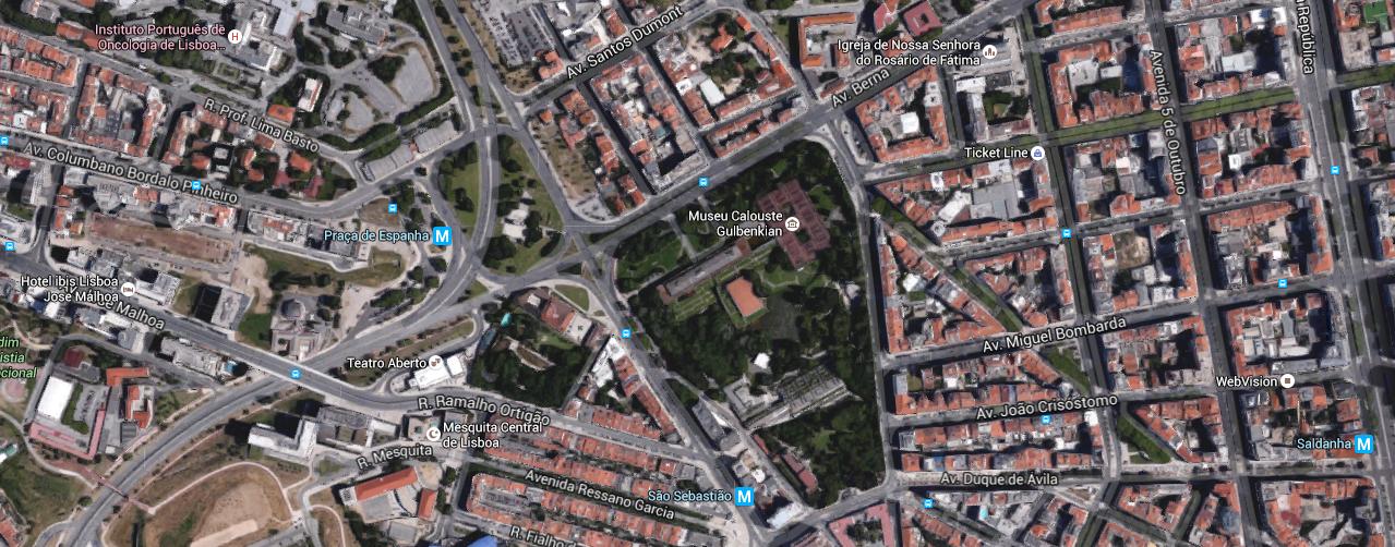 praça de espanha lisboa mapa Contactos e Informações | Fundação Calouste Gulbenkian praça de espanha lisboa mapa