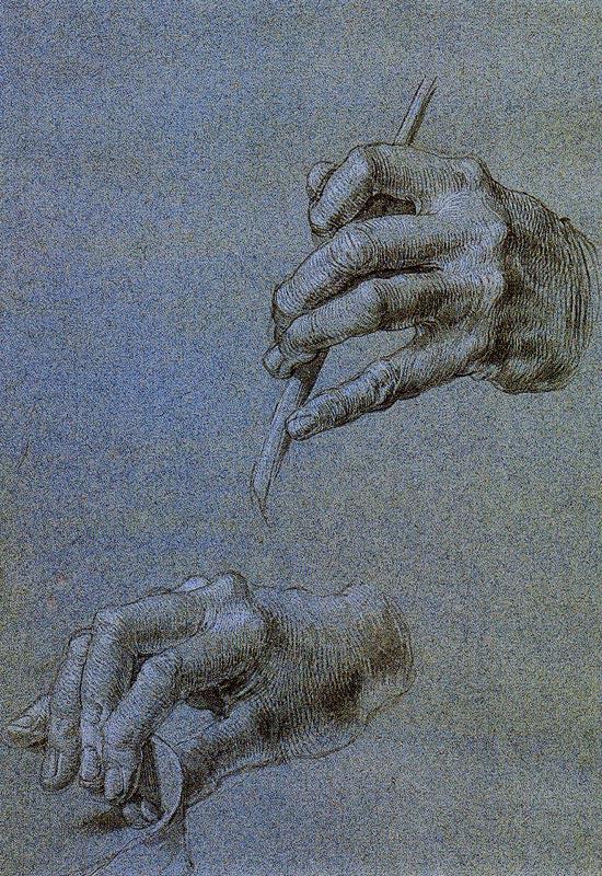 Albrecht Dürer, As mãos de São Domingos, 1506 Museu Albertina, Viena