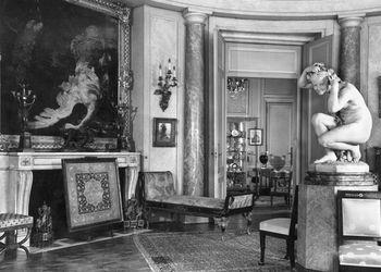 Residência de Calouste Gulbenkian na Avenue d' Iéna, em Paris. Salon Rond, c. 1956-1957