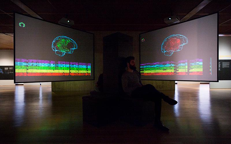 Aspeto da exposição - Orquestra de cérebros