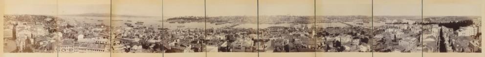 Panorâmica de Constantinopla, Turquia, Istambul (pera), 1880-1890. Atenas, Benaki Museum Photographic Archives – Contemporary Greek History © Coleção de Constantinos Tripos
