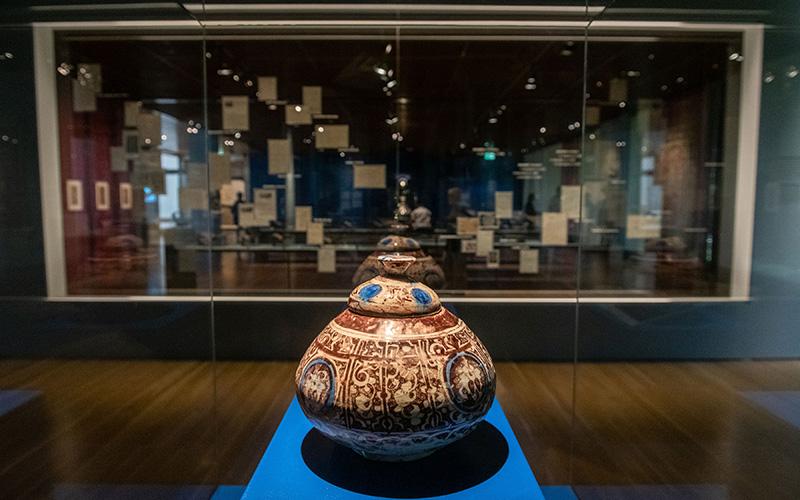 Vaso com tampa, síria, raca, período aiúbida, final do século XII © Museu Calouste Gulbenkian