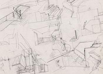 Álvaro Siza Vieira | Casa Avelino Duarte, Ovar: [esboços], [s.d.] © Biblioteca de Arte e Arquivos Gulbenkian