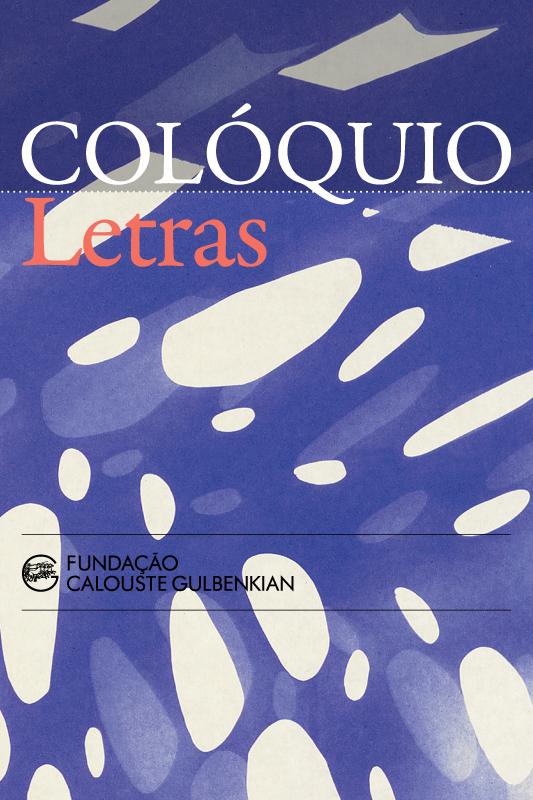 Revista Colóquio/Letras, n.º 202, setembro/janeiro. A capa é da autoria de Lourdes Castro.