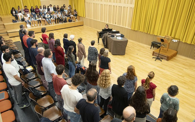Participative Choir rehearsal © Márcia Lessa