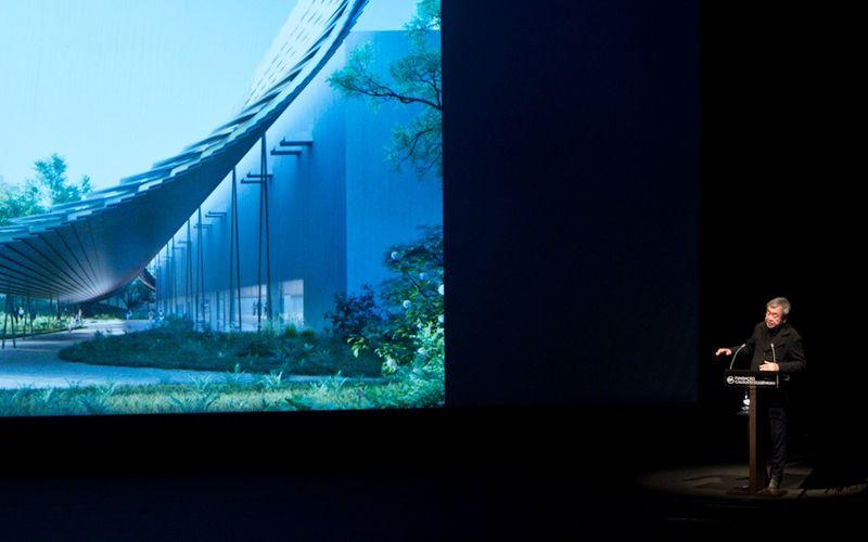 Kengo Kuma na conferência Edifícios e Jardim Gulbenkian – Passado, Presente e Futuro © Márcia Lessa