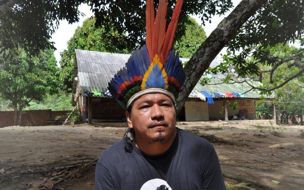 Indigenous leader at Sahu-Epé © SOS Amazonia