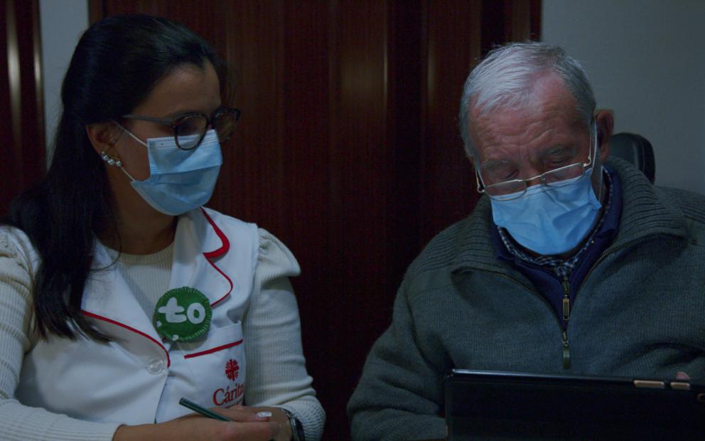 José Carrega e Terapeuta Sara Lopes © DR