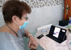 Dona Manuela video-chamada