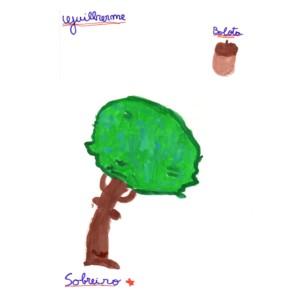 No desafio «Aguarelário II» o Guilherme pintou um sobreiro