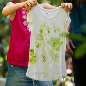 O tanino: impressão de folhas em tecido © Gonçalo Barriga