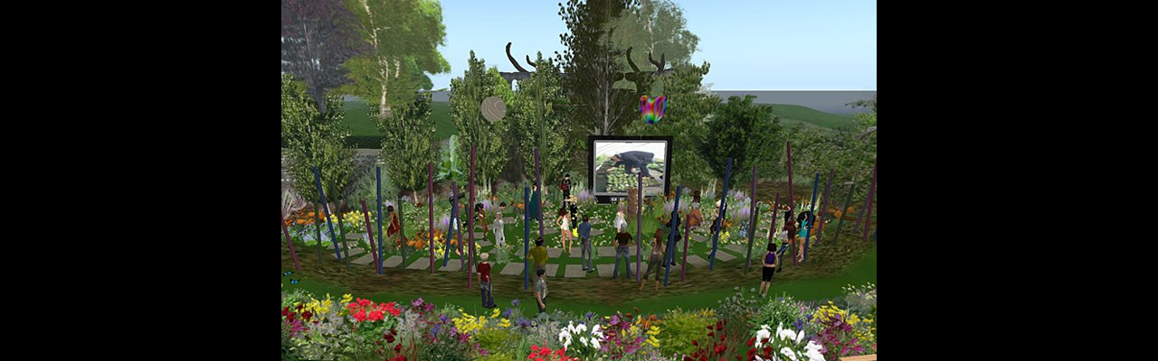 Image of the Virtual 'Garden for Change' in Second Life