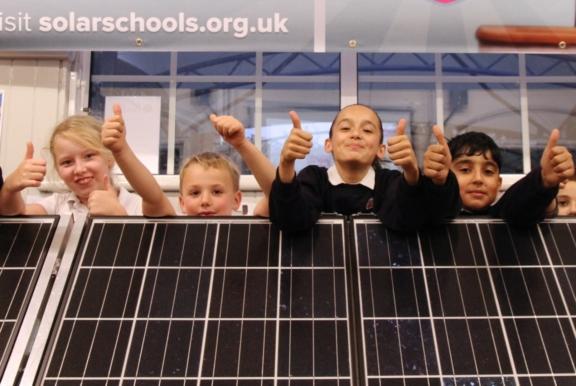 Pupils at solar schools