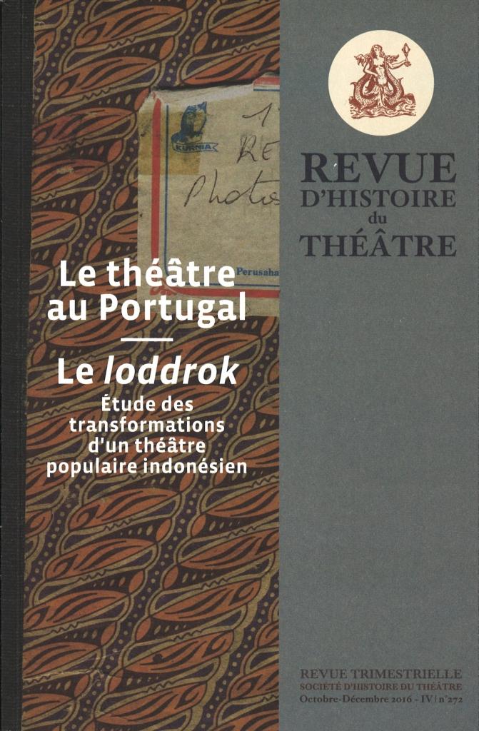 REVUE D'HISTOIRE DU THEATRE