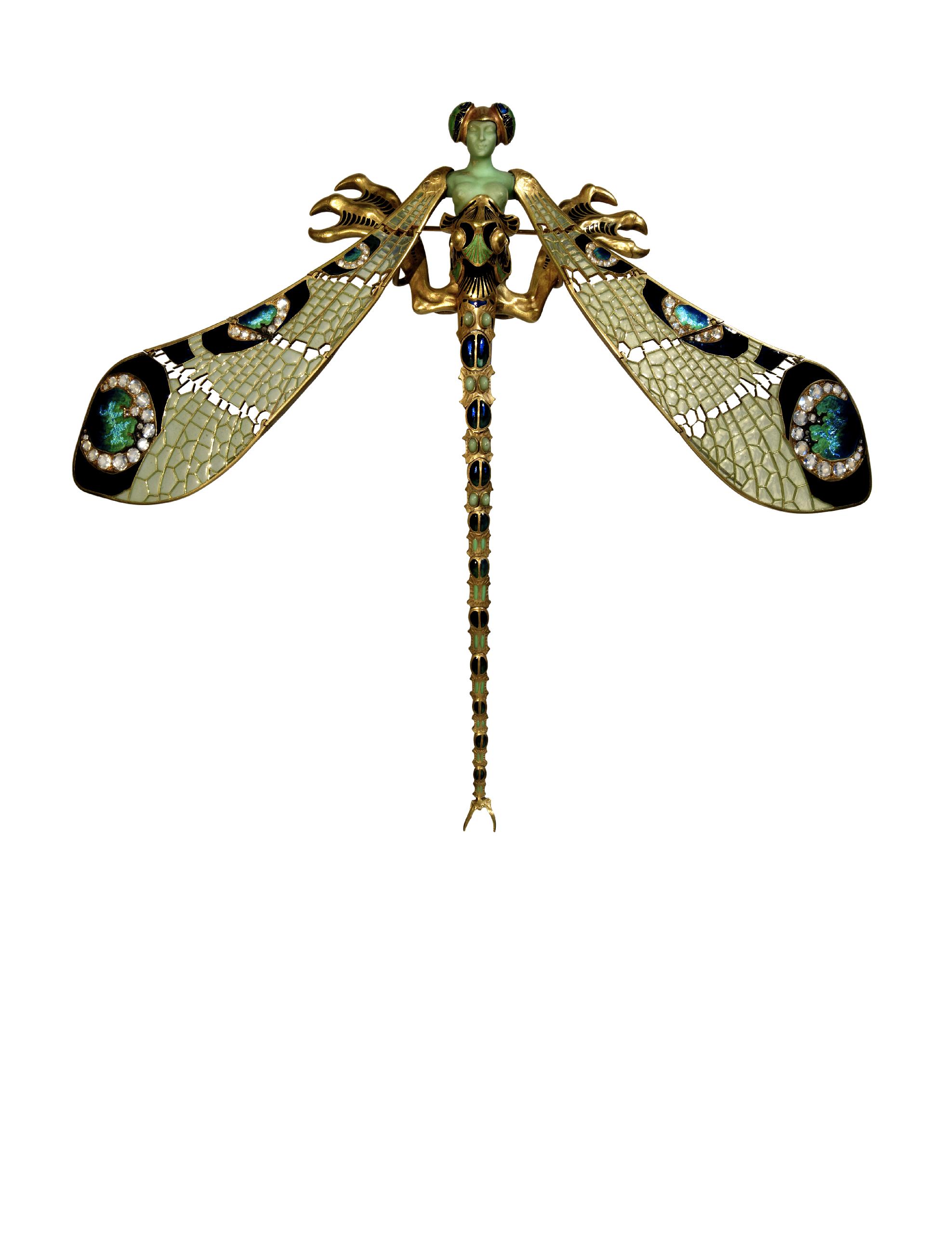 Dragonfly-woman' corsage ornament | Museu Calouste Gulbenkian