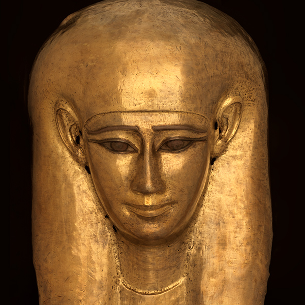 Funerary mask, Egypt, Late Period, 30th dynasty (664-525 BC)