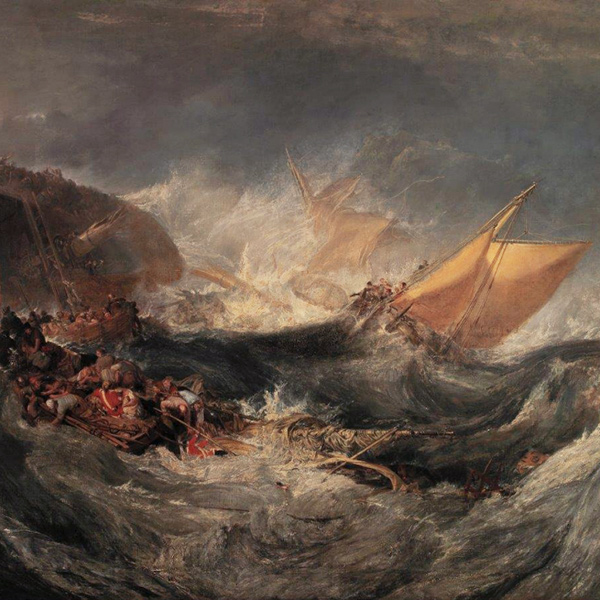 Joseph Mallor William Turner, The Wreck of a Transport Ship, ca. 1810