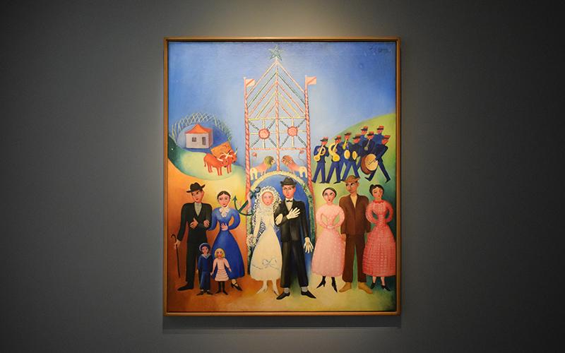 Sarah Affonso, Estampa Popular [Casamento na aldeia], 1937. © Museu Calouste Gulbenkian – Coleção Moderna
