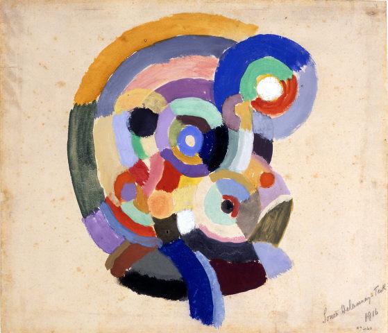 """Sonia Delaunay, """"Chanteur Flamenco (dit Petit Flamenco)"""", 1916. Guache sobre papel. Coleção Moderna"""