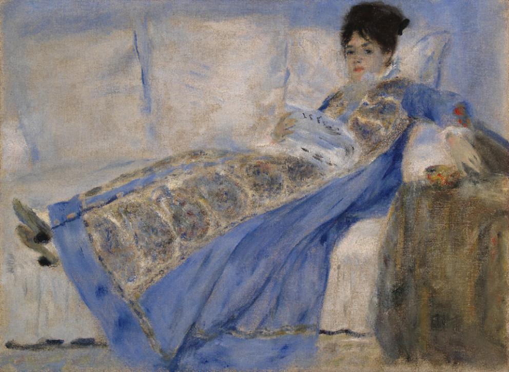 """Pierre-Auguste Renoir, """"Retrato de Madame Claude Monet"""", c. 1872-1874. Óleo sobre tela. Coleção do Fundador"""