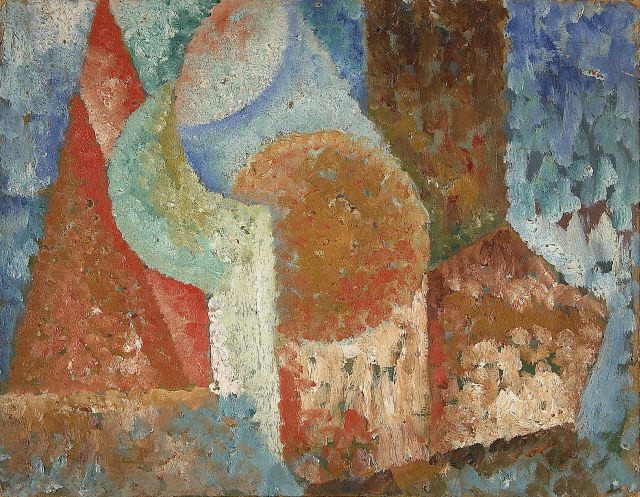Amadeo de Souza-Cardoso, Untitled, 1914. Oil and varnish on hardboard. Modern Collection