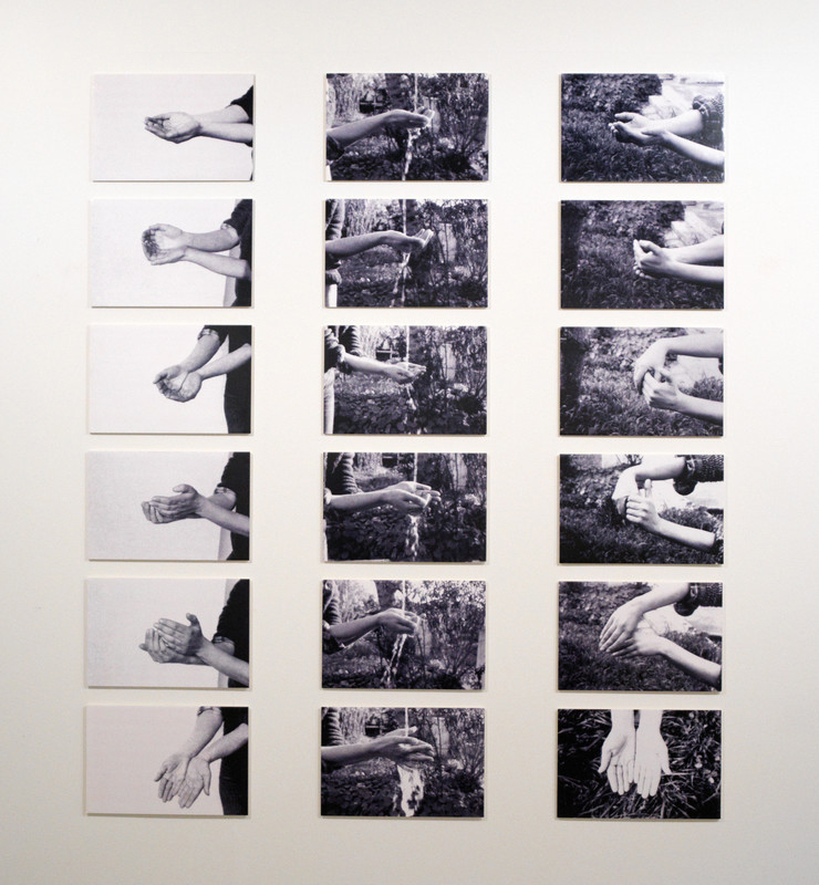 Maria José Oliveira, 'In the Beginning It Was the Palm of the Hand', 1978. Installation (24 photographs by Sérgio Pombo). Modern Collection
