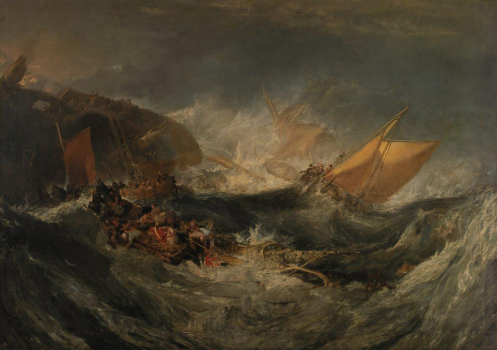 William Turner, 'The Wreck of a Transport Ship', c. 1810. Oil on canvas. Founder's Collection