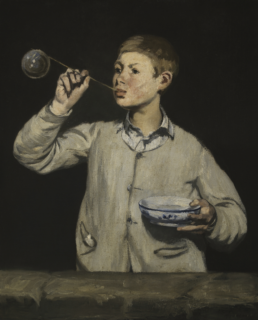Édouard Manet, 'Boy Blowing Bubbles', 1867. Oil on canvas. Founder's Collection