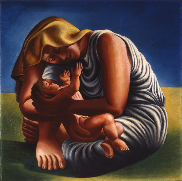 """José de Almada Negreiros, """"Maternidade"""", 1935. Óleo sobre tela. Coleção Moderna"""