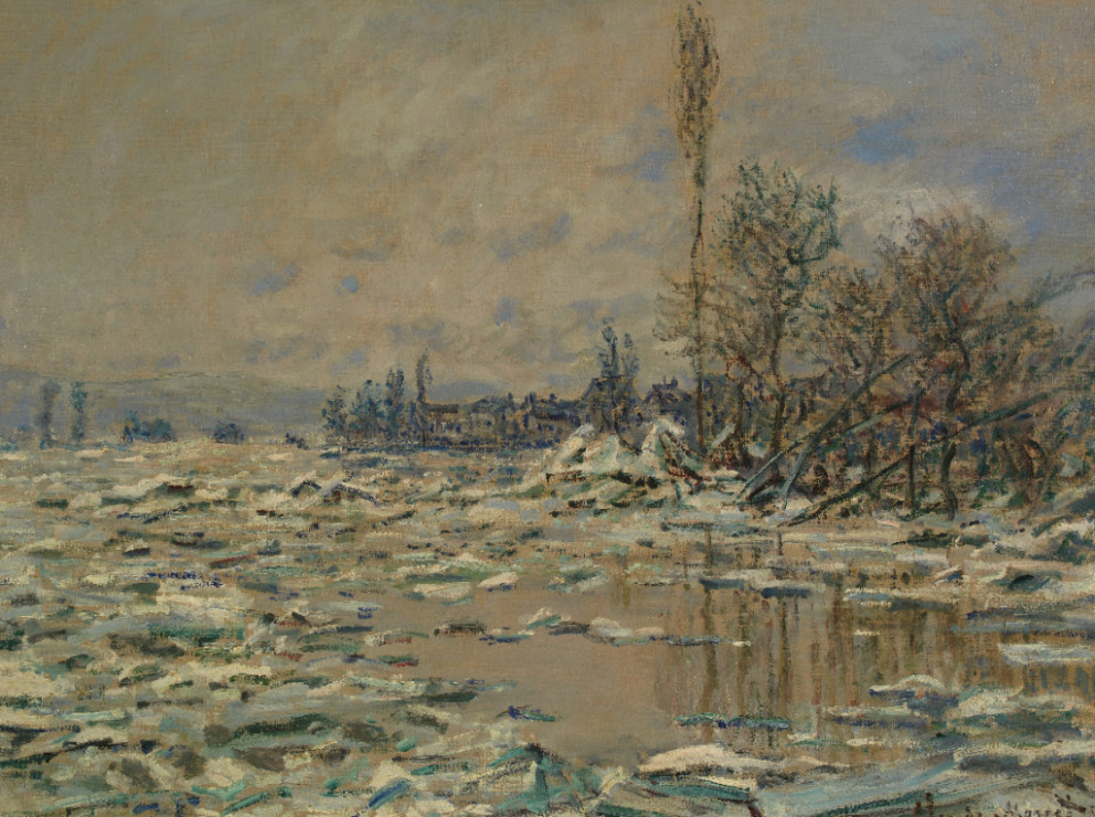 Claude Monet, 'The Break-Up of the Ice', 1880. Oil on canvas. Founder's Collection